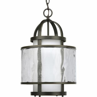 Alcott Hill Triplehorn Pendant in Antique Bronze