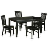 Araminta Rubberwood Solid Wood Dining Set by Alcott Hill®
