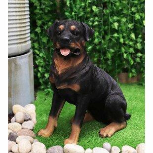 Ebros Lifelike Realistic German Shepherd Dog Statue with Glass Eyes 8.25 Long Animal Decorative Figurine