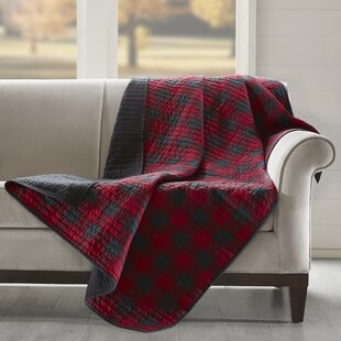 Merveilleux Woolrich Check Quilted Cotton Throw