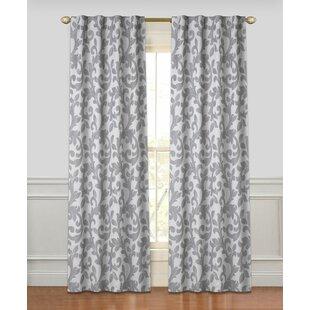 Tantris Geometric Room Darkening Rod Pocket Curtain Panels (Set of 2) by Ophelia & Co.