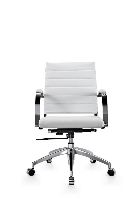 office chair genuine leather white. Stenberg Genuine Leather Office Chair White A