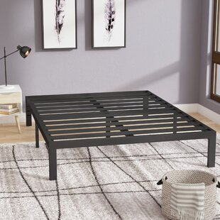 Branson Black Metal Platform Bed Frame