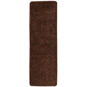 soft solid non slip shag carpet brown stair tread