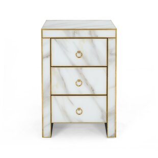 Aloysius Modern Faux 3 Drawer Accent Chest by Mercer41