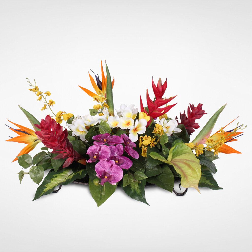 Bayou Breeze Tropical Hawaiian Paradise Silk Mixed Floral