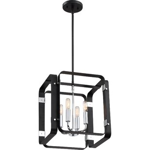 Franklin 4-Light Square/Rectangle Pendant by Orren Ellis