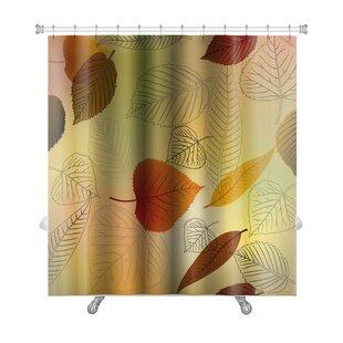Leaves Autumn Leafs Fall Premium Single Shower Curtain
