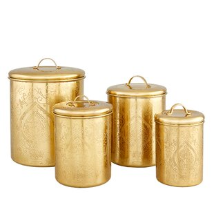 Tangier 4 Piece Etched Canister Set