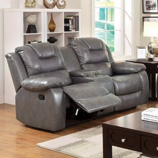 Noker Leather Reclining Sofa Red Barrel Studio