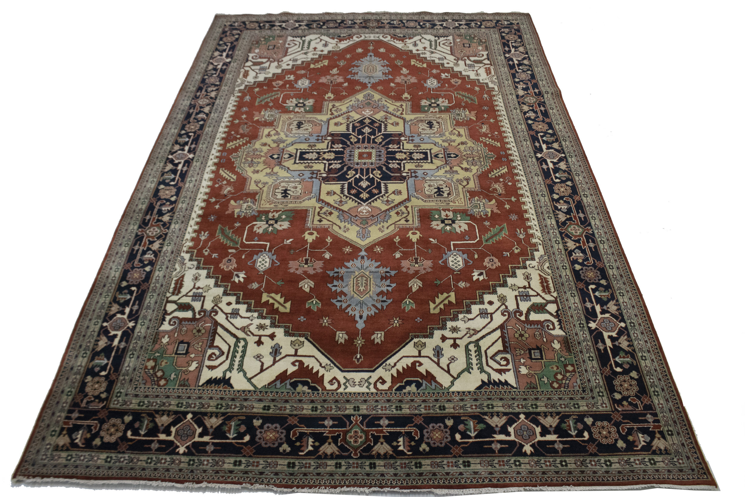 Adminrugs Oriental Hand Knotted Wool Rusty Red Area Rug Wayfair
