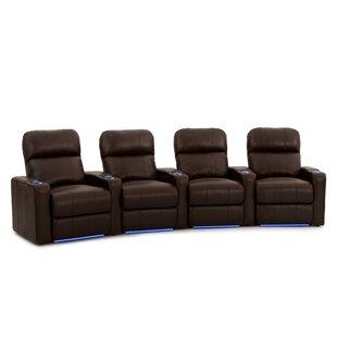 Diamond Stitch Home Theater Row Seating (Row of 4) ByLatitude Run