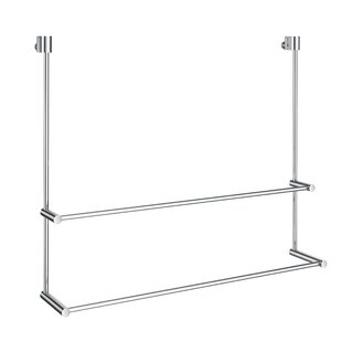 Witcher No Drill Double 23 62 Towel Bar For Gl Shower Door