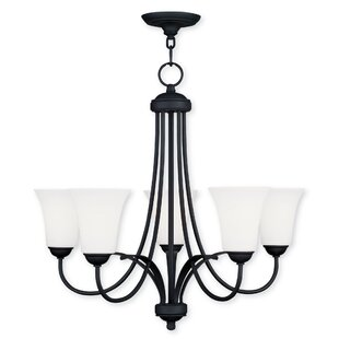 Hendrix 5-Light Shaded Chandelier by Andover Mills