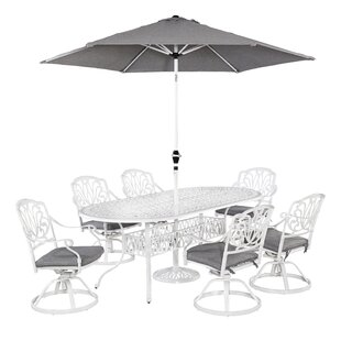 Nori 9 Piece Dining Set with Cushions