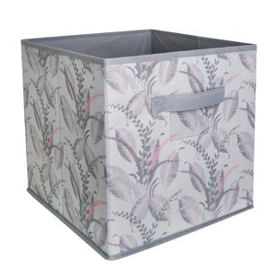 Compare & Buy Storage Fabric Cube in Palm Leaf By Laura Ashley