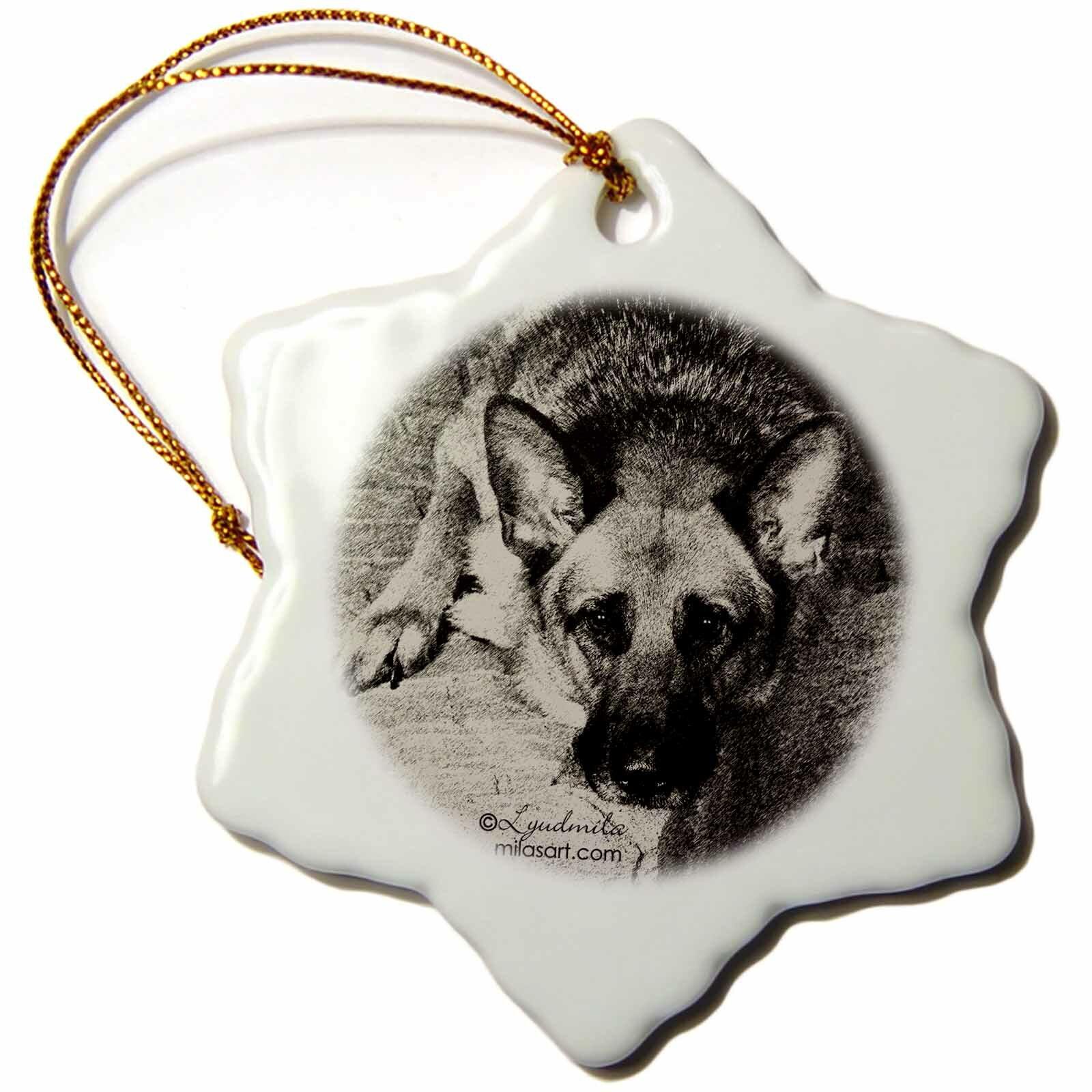 The Holiday Aisle German Shepherd Holiday Shaped Ornament Wayfair