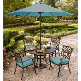 Fleur De Lis Living Burriss 9 Piece Dining Set