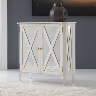 2 Door Mirrored Accent Cabinet by Modern History Home SKU:CC447534 Order