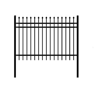 W Rome Unassembled Steel Fence Panel