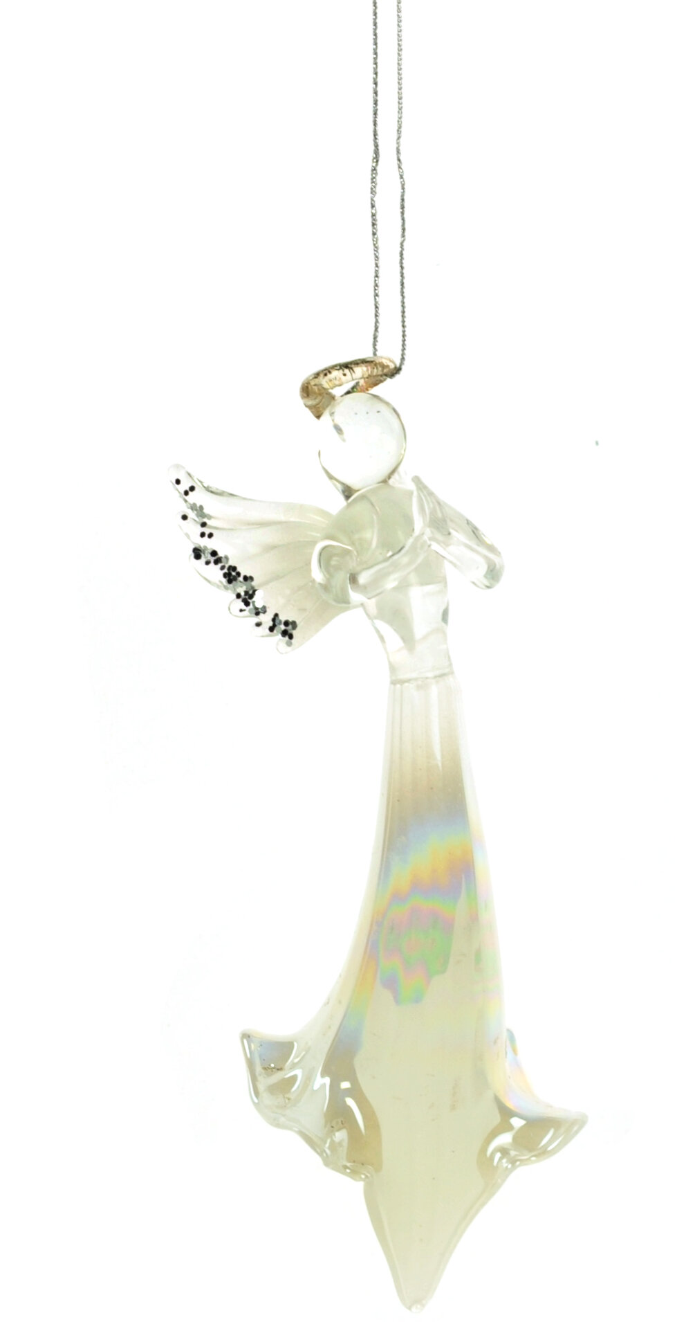 The Holiday Aisle Glass Praying Angel Hanging Figurine Ornament Wayfair