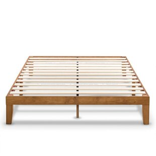 Harlow Solid Wood Platform Bed Frame With Clic Wooden Slat