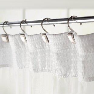 Burnett Square Wall Mounted Shower Curtain Hooks Set Of 12