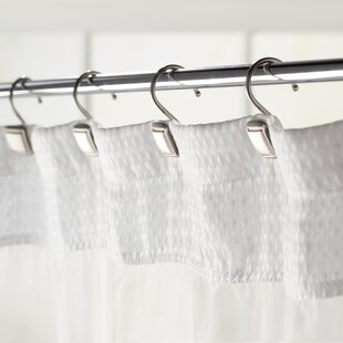 Burnett Square Wall Mounted Shower Curtain Hooks (Set of 12) By The Twillery Co.
