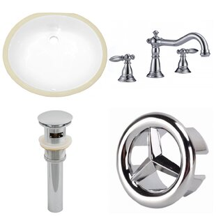 Affordable Ceramic Oval Undermount Bathroom Sink with Faucet and Overflow ByAmerican Imaginations