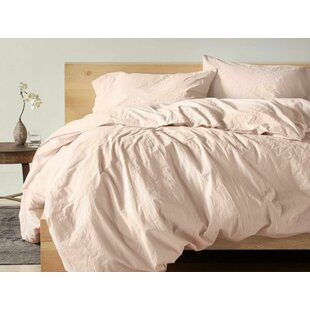 Organic Crinkled Percale 100% Cotton Sheet Set By Coyuchi