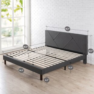 Bartley Geometric Paneled Upholstered Platform Bed by Trule Teen