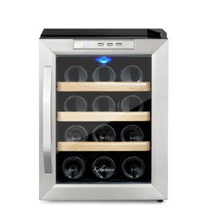 12 Bottle Single Zone Freestanding Wine Cooler by Kalamera
