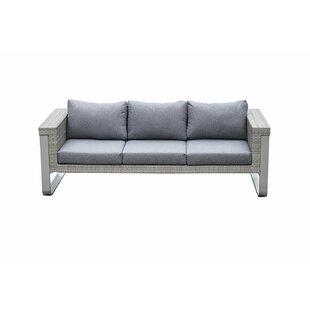 Regalado Modern Contemporary Outdoor Patio Sofa with Cushions