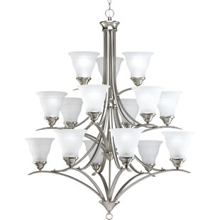Charlton Home Roquefort 15-Light Shaded Chandelier