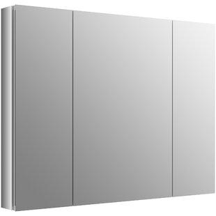Best Reviews Verdera 40 x 30 Aluminum Medicine Cabinet with Adjustable Magnifying Mirror and Slow-Close Door ByKohler