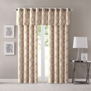 Ashworth Chandler Geometric Semi-Sheer Grommet Single Curtain Panel