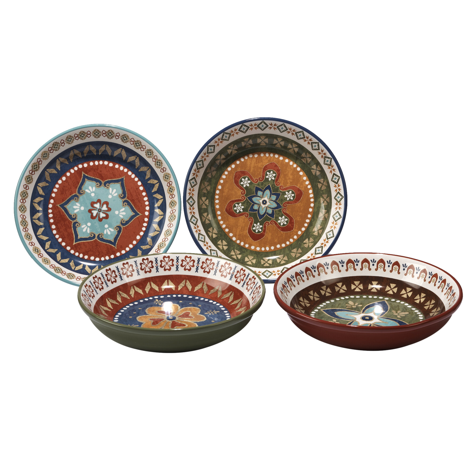 World Menagerie Brimson 40 Oz Pasta Bowl Set Of 4 Reviews Wayfair