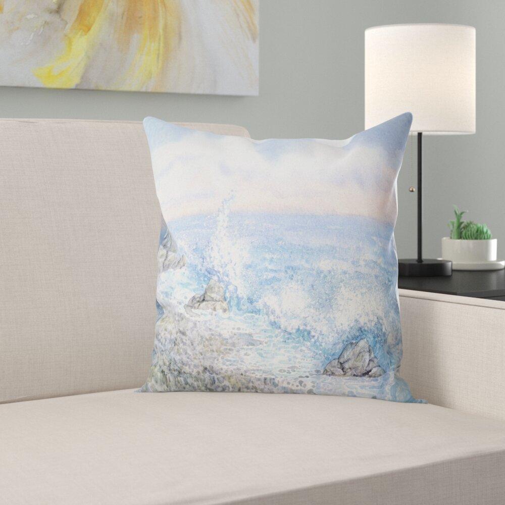 East Urban Home Seascape Watercolor Waters Lumbar Pillow Wayfair