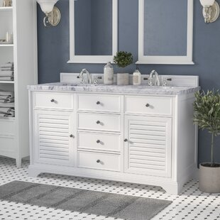 Osmond Traditional 60 Double Cottage White Bathroom Vanity Set by Greyleigh