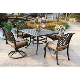 Kempf 5 Piece Dining Set with Cushions