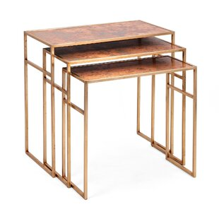 Darwen 3 Piece Coffee Table Set by World Menagerie