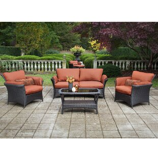 Brayden Studio Billington 4 Piece Sofa Set with Cushions