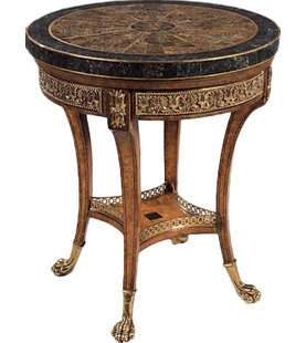 Finely Cast Veneer End Table