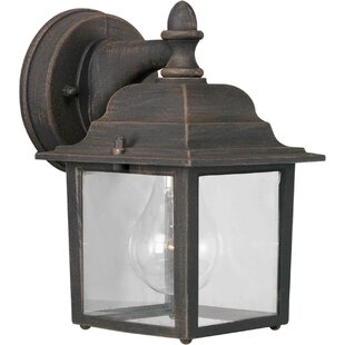 Spaulding 1-Light Outdoor Wall Lantern by Charlton Home