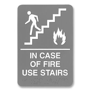 ada plastic fire use stairs sign