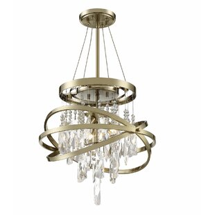 Culbreath 3-Light Crystal Chandelier by M..