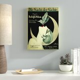 'Art Deco Music Sheet' Vintage Advertisement on Wrapped Canvas