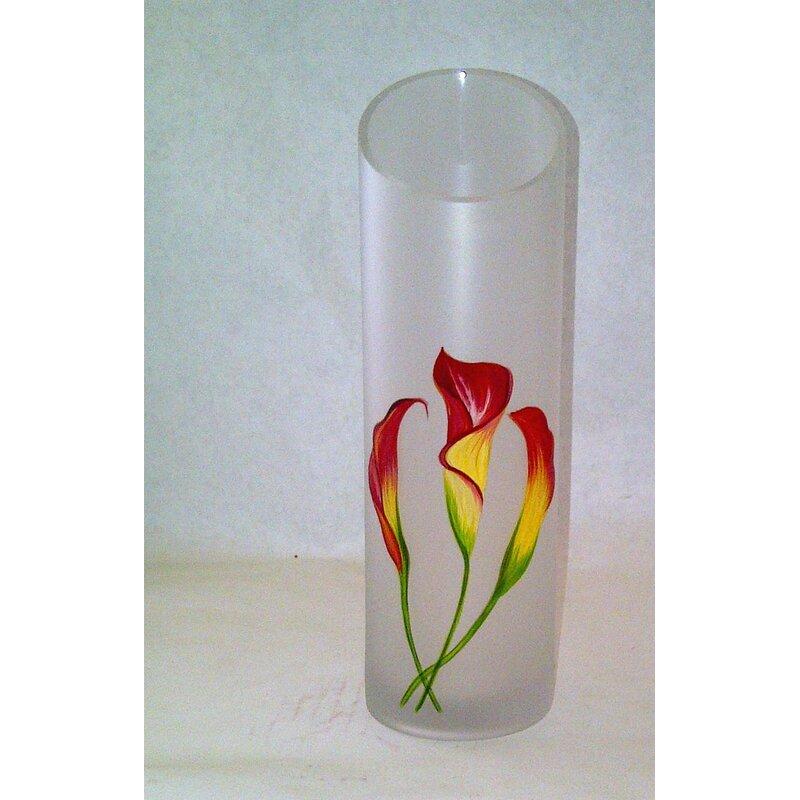 Womar Glass Calla Lily Vase Wayfair