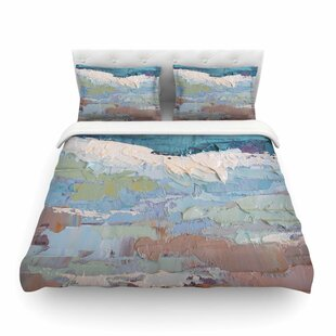 Surf Dreams Painting by Carol Schiff Featherweight Duvet Cover