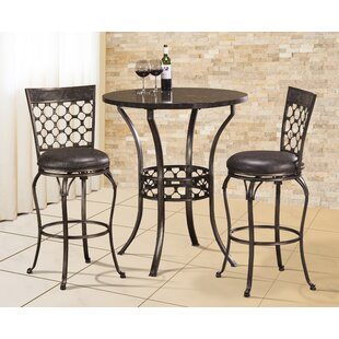 Alchemist 3 Piece Bar Height Pub Table Set  sc 1 st  Wayfair : bar height table sets - pezcame.com